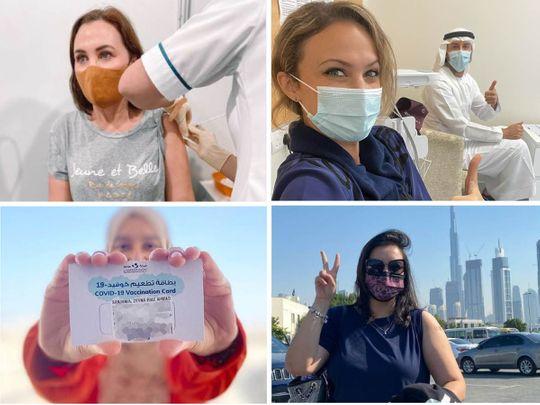 UAE parents share vaccination photos