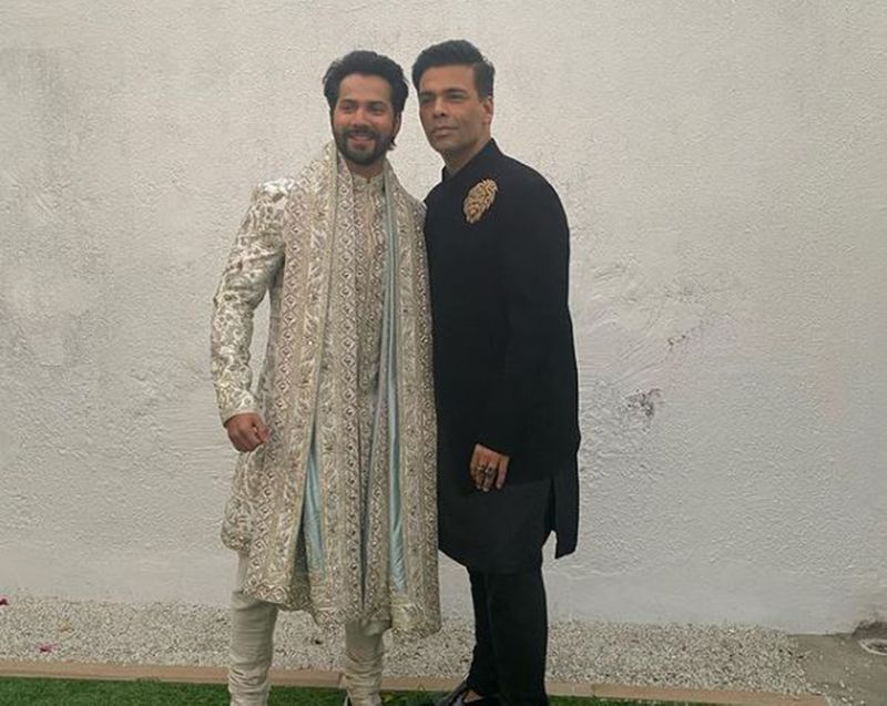 Varun Dhawan and Karan Johar