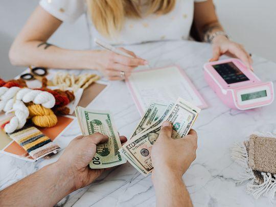 Woman finances