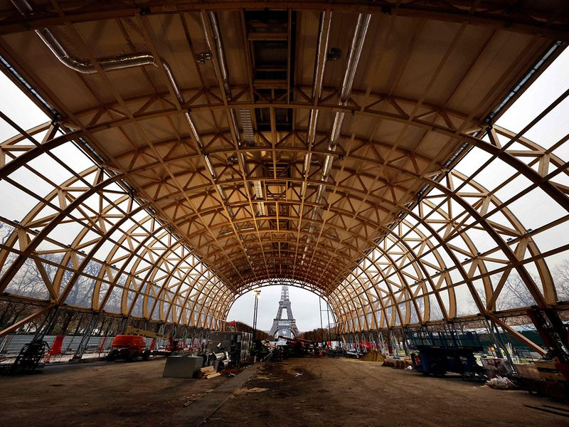 Construction is already under way in Paris for the 2024 Games