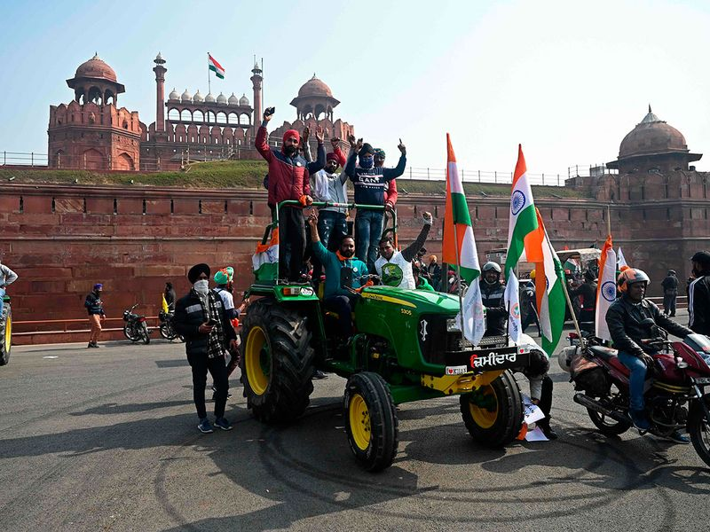 Farmers new delhi