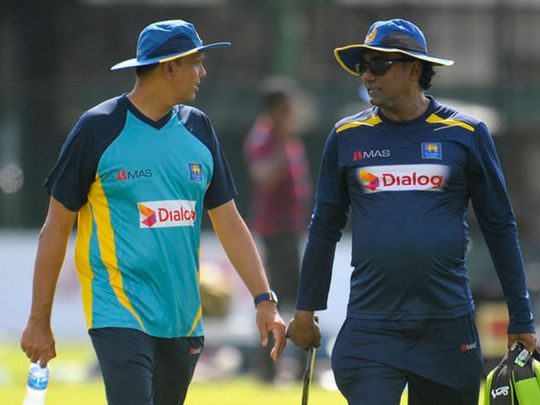 Jerome Jayaratne, left, will take over as Sri Lanka team manager from Asantha de Mel