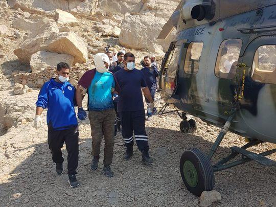 NAT RAK police air wing rescued injured hiker-1611642118431