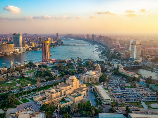 Stock Cairo city
