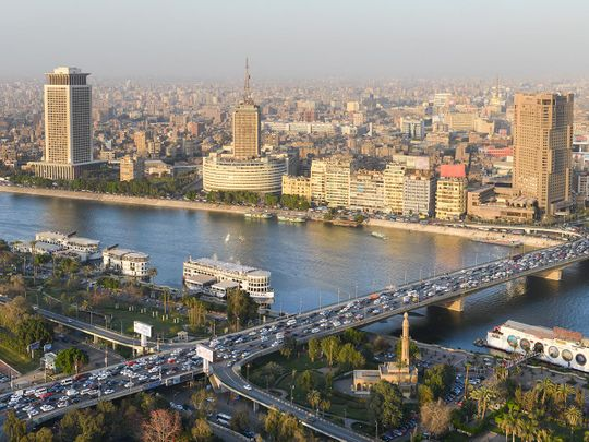 Stock Cairo city