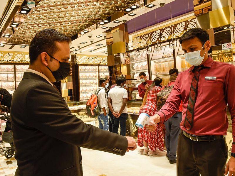 Stock Dubai gold shopping Covid