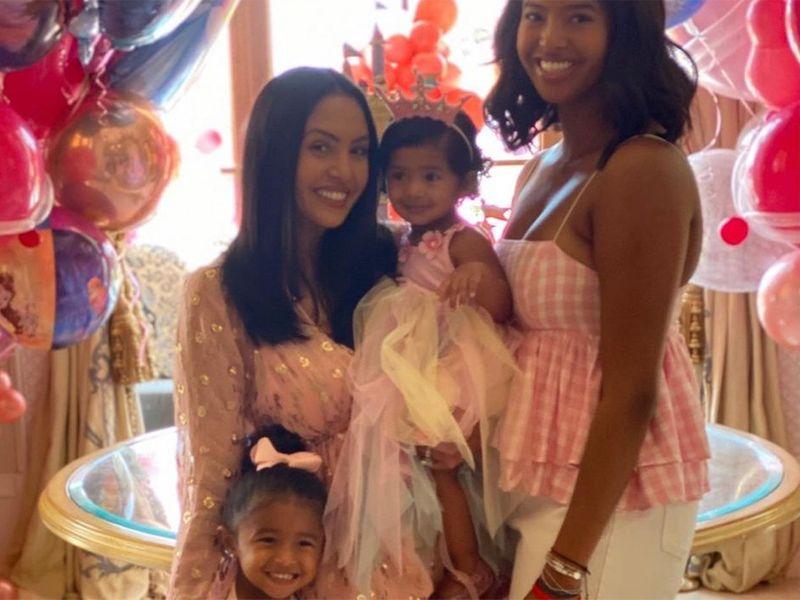 Vanessa Bryant and children.