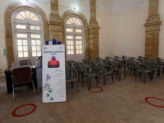 Karachi covid vaccine chairs Pakistan