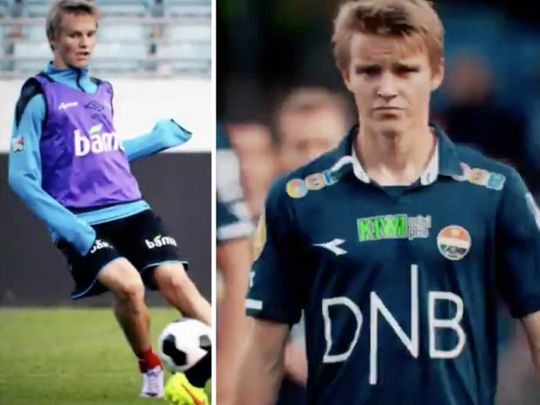 Martin Odegaard made his debut against UAE at age 15.
