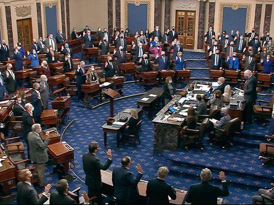 Senate impeachment Trump vote Leahy US