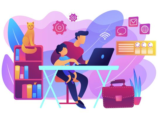 Strategies for parents working from home