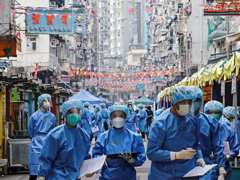 20210128 health workers hong kong