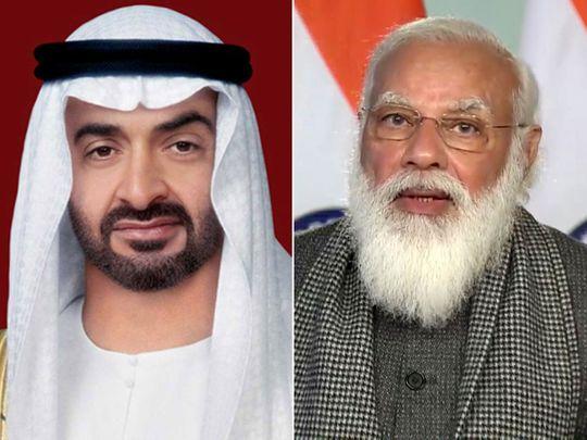 Sheikh Mohamed bin Zayed, Indian Prime Minister Modi
