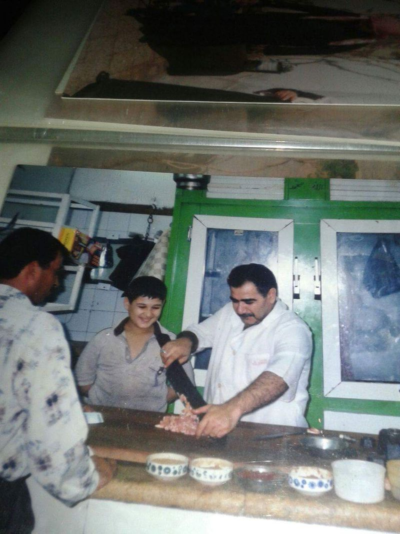 Chef Hassan Al Obaid with his father