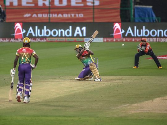 Delhi Bulls brilliantly chased Bangla Tigers' impressive total to win the third match of the Abu Dhabi T10