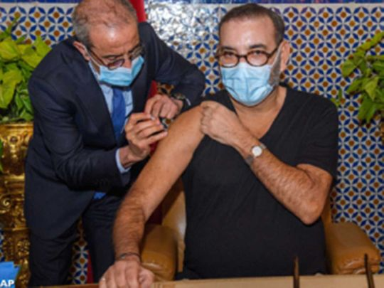 King Mohammed VI of Morocco COVID-19 vaccine