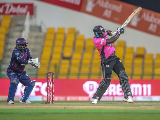 Pune Devils produced a sterling all-round performance to pull off an emphatic seven-wicket win over Deccan Gladiators in the second match of the Abu Dhabi T10