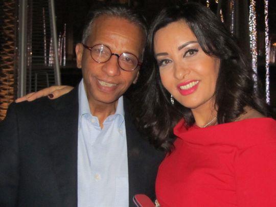 Al Saghir with Tunisian singer Latifa.