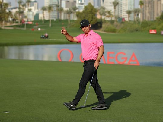 Paul Casey is in command at the Omega Dubai Desert Classic