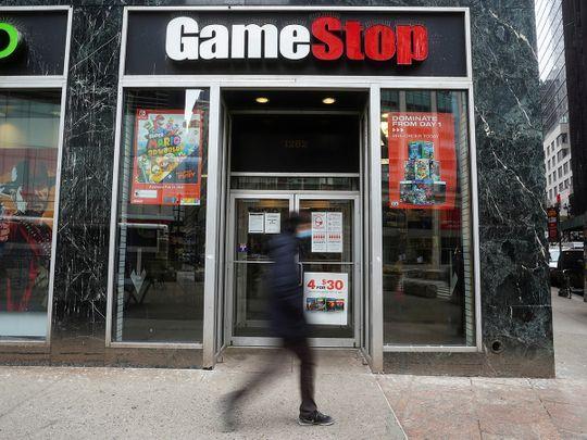 A GameStop store