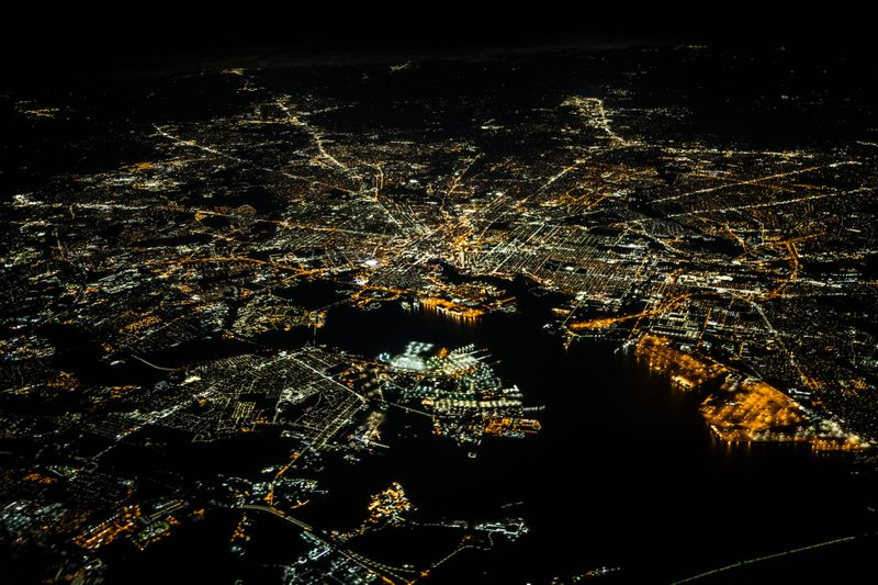 Baltimore, US at night: Rico S