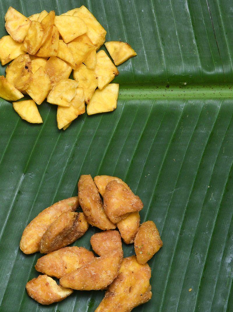 Banana chips and sharkara varathiyathu