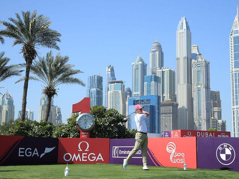 Brandon Stone at the Omega Dubai Desert Classic
