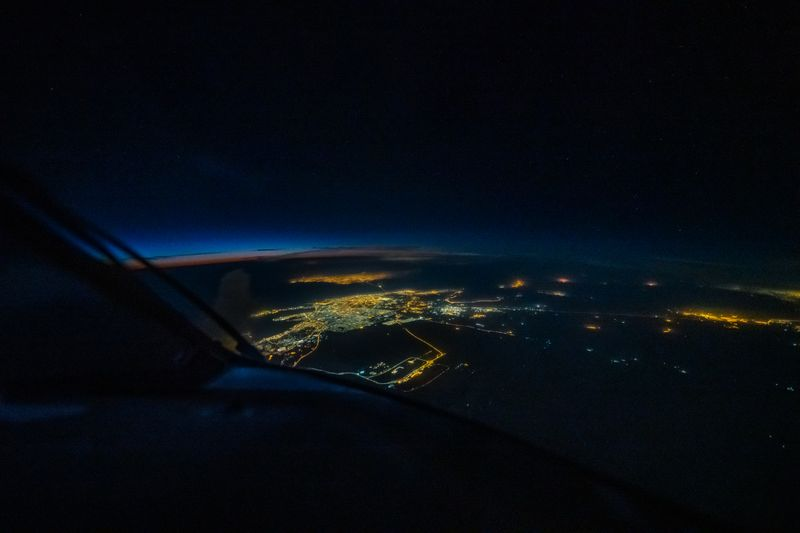 Damman, Saudi Arabia at night: UAE-based B-777 pilot Rico S