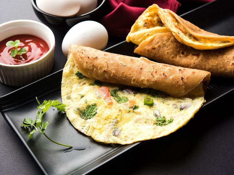 Egg, paratha