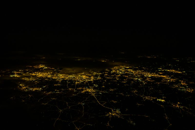 Lille, France at night: UAE pilot Rico S