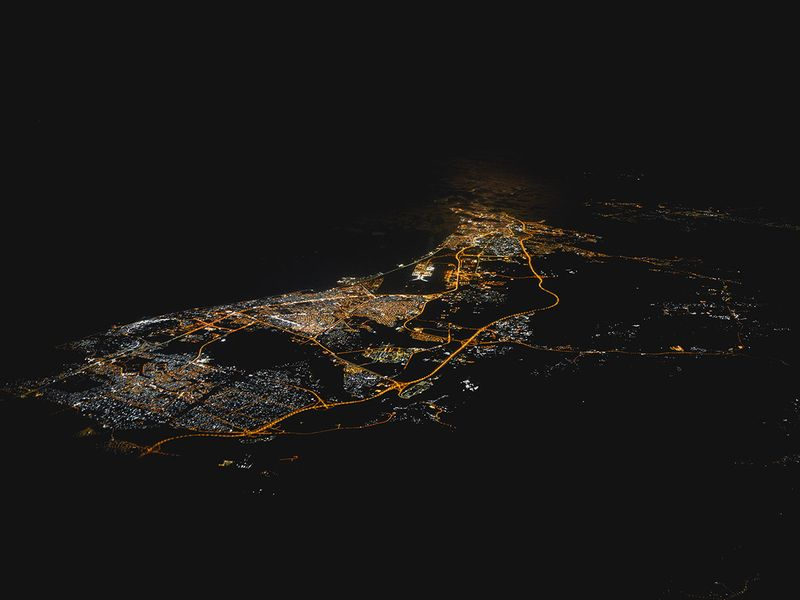 Muscat, Oman at night: UAE-based pilot Rico