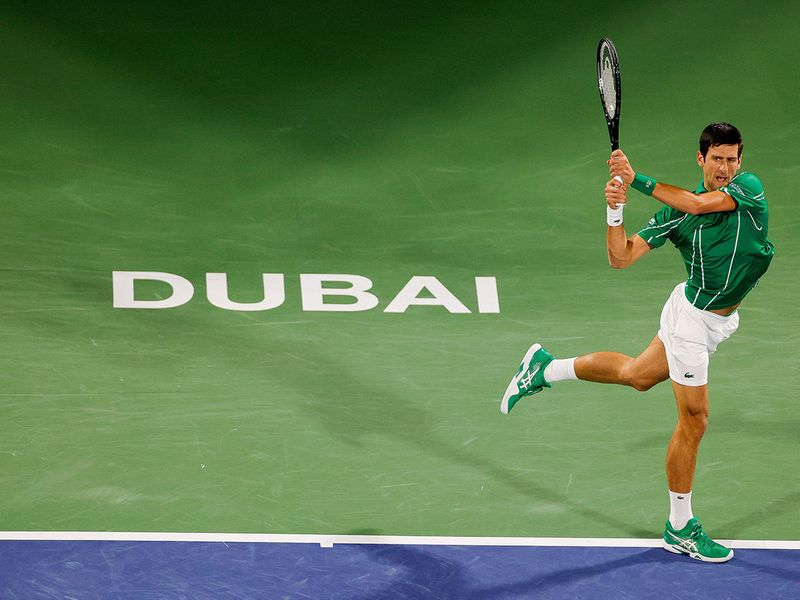 Novak Djokovic tasted success at the Dubai Duty Free Tennis Championship