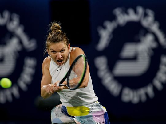 Simona Halep won the title last time out in Dubai Duty Free Tennis Championship