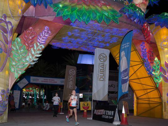 Stage 3 of the Dubai Women's Running Challenge at Dubai Garden Glow in Zabeel Park