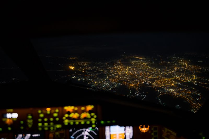 Wuhan, China at night: UAE pilot Rico S