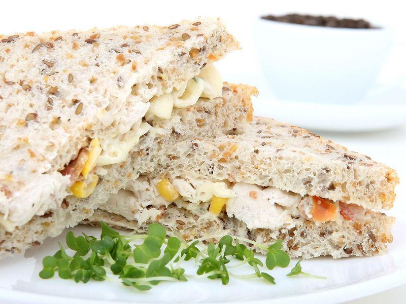 chicken, sandwich