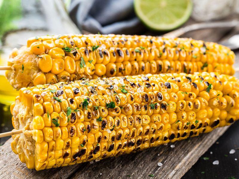 corn, grill