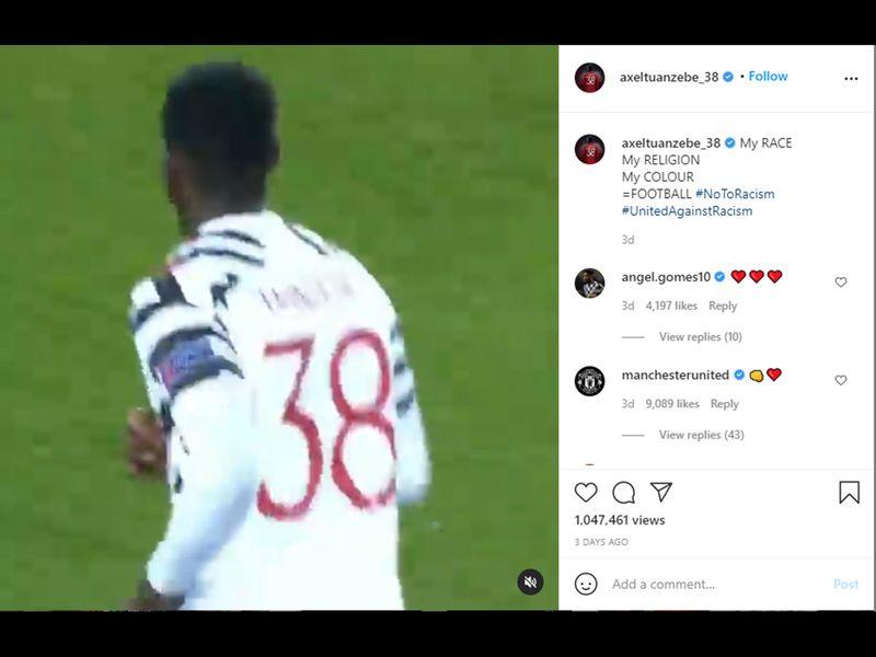 Alex Tuanzebe responds to racism.