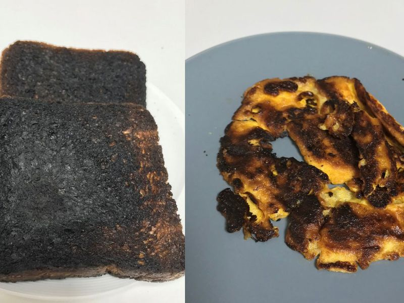 Rippen Kaur managed to burn bread, butter and omelette all on the same day