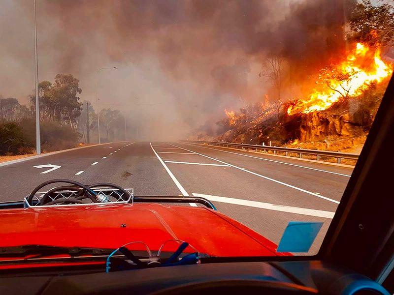Perth Australia bush fire wild