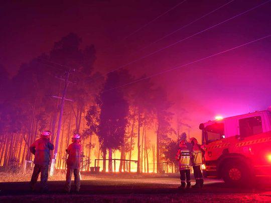 Perth bush wild fire Australia
