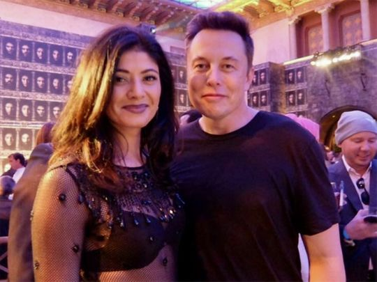 Pooja Batra and Elon Musk in 2016
