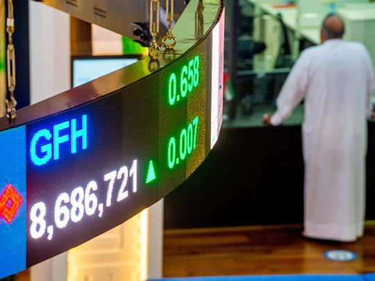 Stock DFM Dubai stock market