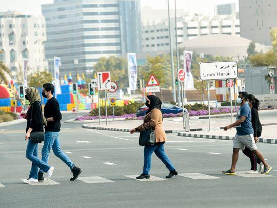 Stock Social distancing in Dubai