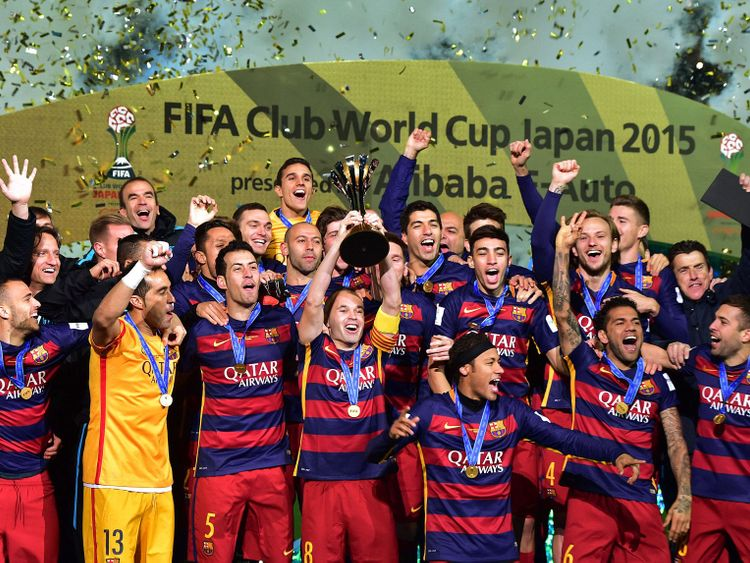 Barcelona win the 2015 Club World Cup.