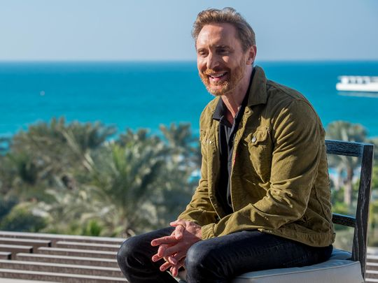 French DJ David Guetta during an interview at Jumeirah Al Naseem, Dubai, on February 3, 2021