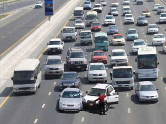 How to report a minor traffic accident in the UAE