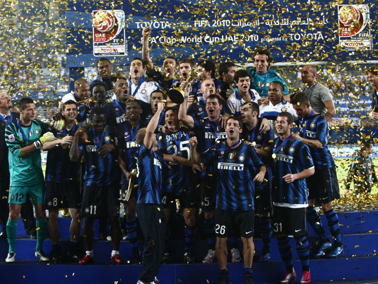 Inter Milan win the 2010 Club World Cup.