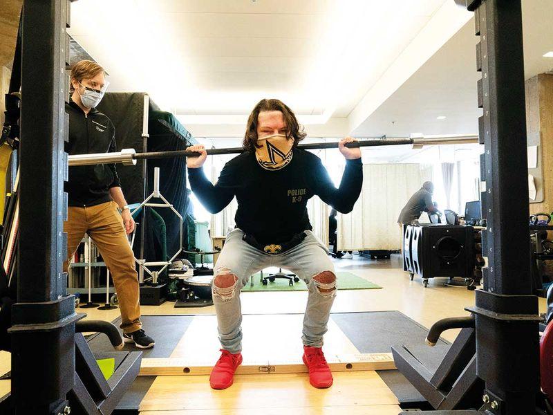 Joe DiMeo weights gym face transplant
