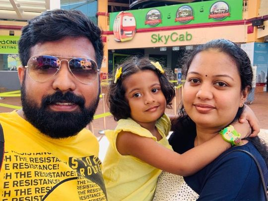 Lucky winner Suraj with his family